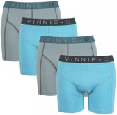 Vinnie-G boxershorts Wave Dark-Print 4-pack -XXL