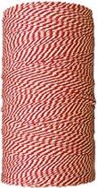 Baktouw, Slagerstouw, Decoratietouw (katoen, 500 gram, ca 400 meter, rood/wit)