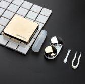 Lenzendoosje Partylens® - Gold inclusief spiegeltje - 5 delig 6x6 cm