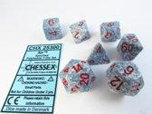 Chessex Polydice 7 Dobbelstenenset Air Speckled