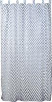 Taftan - Gordijn - Vliegtuigjes - 145 x 280 cm - grijs blauw / wit
