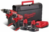 Milwaukee M12 FPP2A-402X 12V Li-Ion accu Klopboor-/schroefmachine (M12 FPD) & Slagschroevendraaier (M12 FID) Combiset (2x 4,0Ah accu) in HD Box