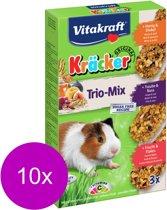 Vitakraft Cavia Kracker Honing/Fruit/Noot 3 in 1 - 10 stuks