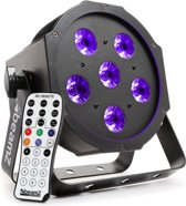 BeamZ BFP130 blacklight flatpar met 6x 6 Watt UV LED's