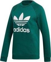 adidas Trefoil Crew  Sporttrui - Maat 32  - Vrouwen - donker groen/wit