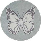 Lorena Canals - Vloerkleed Rond - Butterfly - 160 cm - Green