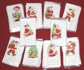 25 Kerst en Nieuwjaar Neerzet Kaarten - Met enveloppen