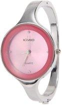 Kimio klassiek dames horloge armband - roze -33 mm - I-deLuxe verpakking