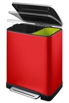 EKO E-Cube Pedaalemmer - 28+18 liter - Rood