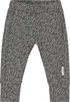 Noppies Unisex Broek regular fit Quailcreek all over print met omslagvoetje - Grey Melange - Maat 80