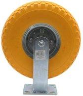 bokwiel met gele pu anti-lek band 300-4 bokwielen