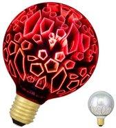 Bailey LED Magic 3D G95 E27 240V 4.5W Scherven Rood 40lm