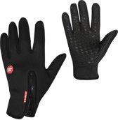 Touchscreen Sport Handschoen - Antislip - Water- en Windafstotend - Thermo - L - Zwart