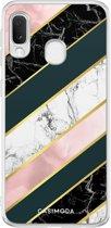 Samsung Galaxy A20e siliconen hoesje - Marble stripes
