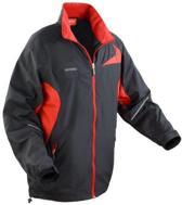 Spiro Micro-lite team jacket, Kleur Black/ Red, Maat XL