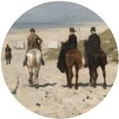 Behangcirkel - Kinderen der Zee - Jozef Israëls - Ø 100 cm. Vliesbehang 200 grams A-Kwaliteit. Art. BC009