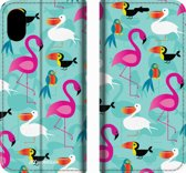 Mobigear Tropical Design Wallet Bookcase Hoesje 7 iPhone Xs Max