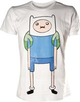Adventure Time Heren T-shirt Wit Finn Print Maat XL