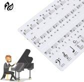 Piano/Keyboard Stickers - Leer Eenvoudig En Snel Muzieknoten Lezen - Geschikt Voor 49, 61 en 88 Toetsen -Transparant en Verwijderbaar