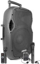 Vonyx AP1200PA mobiele geluidsinstallatie met Bluetooth, handmicrofoon en headset