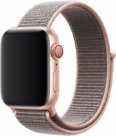 Canvas / Stoffen Armband Voor Apple Watch Series 1,2,3 & 4 - 42 MM & 44 MM Horloge Band Strap - iWatch Schakel Polsband Stof - Devia Sport 3 band – Roze
