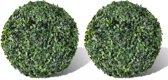 vidaXL Buxusbollen kunstplant 27 cm 2 st