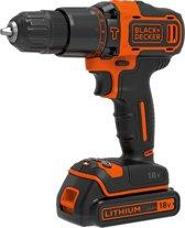 BLACK + DECKER -  BDCHD18KB-QW-  18V accu schroef-/klopboormachine met 2x 1,5Ah accu's, 2 variabele snelheden, koffer