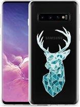 Galaxy S10 Hoesje Art Deco Deer