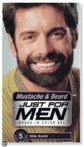 Just For Men Haarkleuring Zwart Kleurgel Voor Snor, Baard En Bakkebaarden