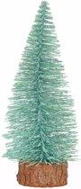Kerstboompje op stam 25 cm - kerstversiering - mintgroen