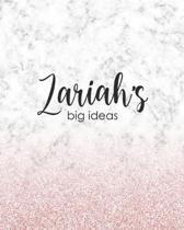Zariah's Big Ideas: Personalized Notebook - 8x10 Lined Women's Journal
