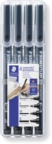 STAEDTLER Lumocolor permanent pen set - Box S-F-M-B
