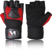 Lerenhandschoenen Krachttraining Fitness Crossfit Training Handschoenen Maat L