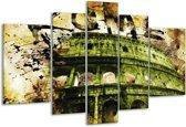 Glasschilderij Rome | Groen, Bruin | 170x100cm 5Luik | Foto print op Glas |  F003327