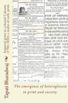 Imperial Print in Colonial Calcutta (1780-1820)