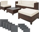 Tectace - Loungeset - 6-delig - Rotan - Bruin
