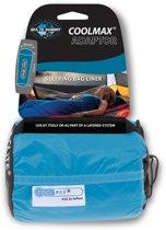 Sea to Summit Coolmax Adaptor Liner Lakenzak - koelend/verwarmend - Recht - blauw