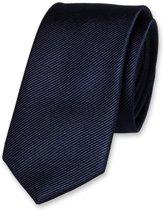 E.L. Cravatte Smalle Stropdas - Donkerblauw - 100% Zijde