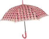 Perletti Paraplu Bloemen Automatisch 102 Cm Rood