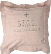 Stapelgoed Stedelijke ontwikkeling - Sierkussen - 60x60 cm - Roze