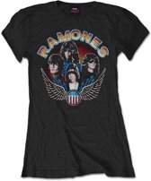 Ramones - Vintage Wings Photo dames T-shirt zwart - M