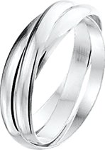 The Jewelry Collection Ring 3-in-1 - Zilver