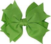 Jessidress Grote Haarstrikje clip van 13 cm - Groen