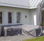 Luxe loungebank beschermhoes 235 x 235 x 70 / 100 cm topkwaliteit grijs