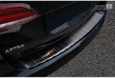 Avisa Zwart RVS Achterbumperprotector Opel Astra K Sportstourer 2016- 'Ribs'