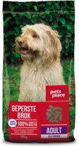 Pets Place Adult Geperste Brokken - Hondenvoer - Gevogelte&Vlees - 18 kg