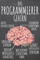 Das Programmierer Gehirn: Programmierer Punktraster Notizbuch, Notizheft oder Schreibheft - 110 Seiten - B�ro Equipment & Zubeh�r - Lustiges Ges