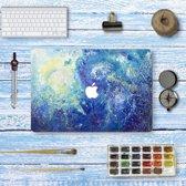 Macbook Sticker voor Macbook Retina 13 inch model 2014/2015 - Sticker - Blauwe Waas