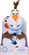Frozen Olaf knuffel plushe -30 cm . Zijn strik geeft licht en maakt geluid - oa kerstliedje