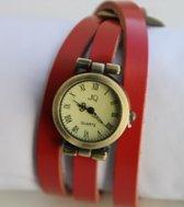 Vintage wrap horloge rood 26 mm I-deLuxe verpakking